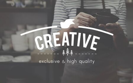 curator: Creative Imagination Innovation Invention Modern Concept Stock Photo