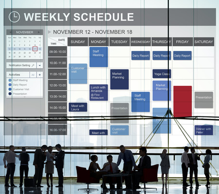 building planners: Weekly Schedule To Do List Appointment Concept