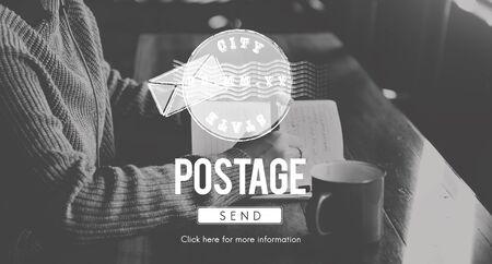 poststempel: Porto Postal Stamp Lieferung Stempel Konzept Lizenzfreie Bilder