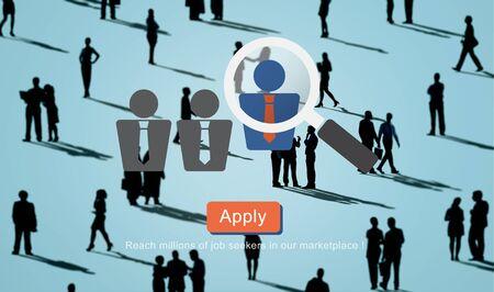 seekers: Recruitment Hiring Employment Job Seekers Concept Stock Photo