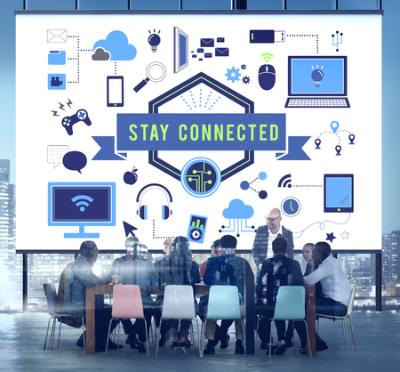 Stay connected concept in a meeting room