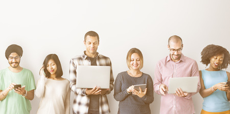 digital device: Group of People Connection Digital Device Concept Stock Photo