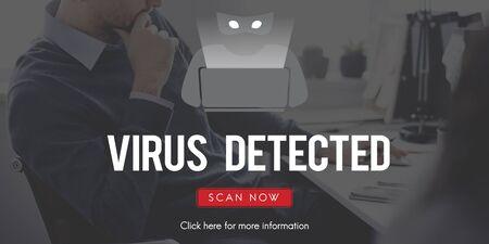 spyware: Scam Virus Spyware Malware Antivirus Concept Stock Photo