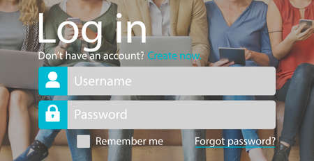 username: Sign Up Account Password Username Concept