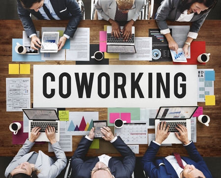 Coworking Space Community Business Start-up Concept Stock Photo