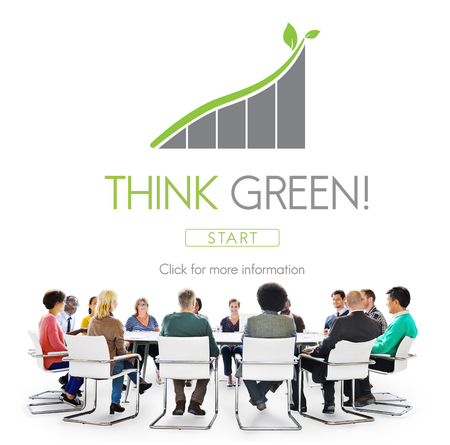 environmental conversation: Think Green Conservation Ecology Environment Concept Stock Photo