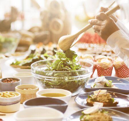 dessert buffet: Buffet Brunch Food Eating Festive Cafe Dining Concept