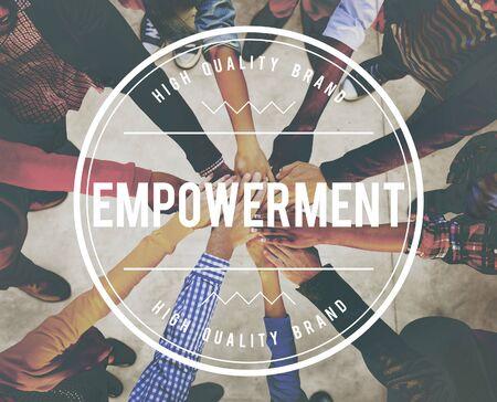 enabling: Empowerment Enable Improvement Progress Concept