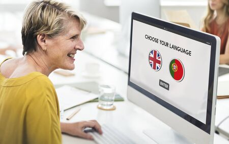 lingo: Protugal English Communication Language Concept Stock Photo