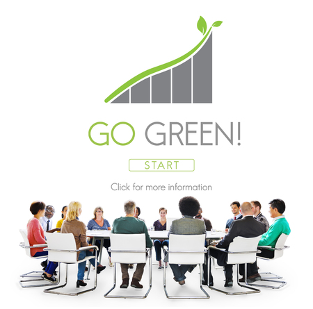 environmental conversation: Go Green Conservation Natural Resources Eco Concept Stock Photo