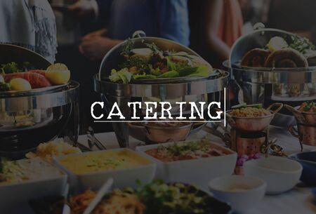 kulinarne: Catering Kulinarny posiłek Część Celebration Concept