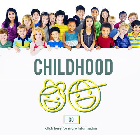early teens: Children Childhood Kids Offispring Website Concept
