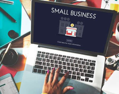 small business computer: Small Business Niche Market Products Ownership Entrepreneur Concept