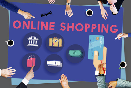 spending: Online Shopping Marketing Commerce Spending Concept