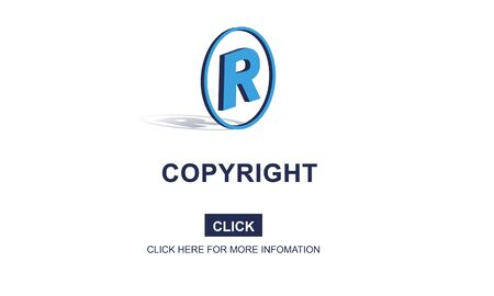 patent: Copyright Brand Business Design Identity Patent Concept Stock Photo
