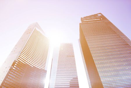 personal perspective: Contemporary Architecture Office Building Cityscape Personal Perspective Concept Stock Photo