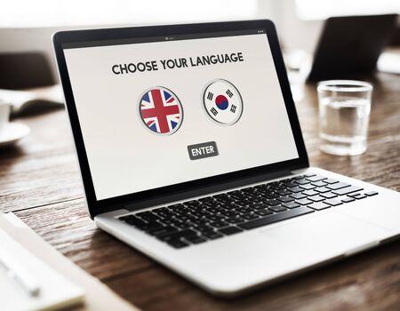 lingo: Korean English Language Communication Global Concept