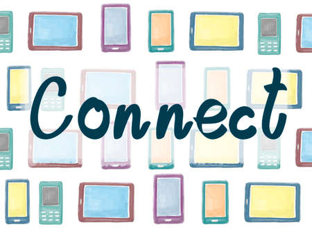 interconnection: Connect Social Networking Interconnection Communication Concept