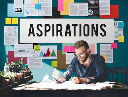 ambition: Aspiration Ambition Dream Goal Hope Solution Concept Stock Photo