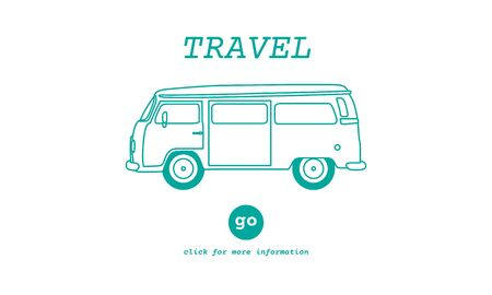 traveling: Travel Traveling Adventure Journey Destination Van Concept Stock Photo