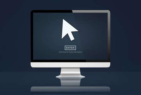 mouse click: Cursor Mouse Click Arrow Concept Stock Photo