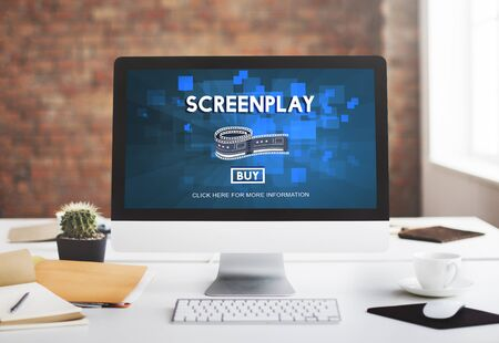 Screenplay Proofreader Story Write Copyright Concept Stock Photo