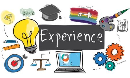 expertise: Experience Balance Bad Good Observation Talent Concept Stock Photo