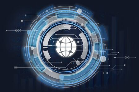 interconnection: Information Technology Graphic Global Icon Concept
