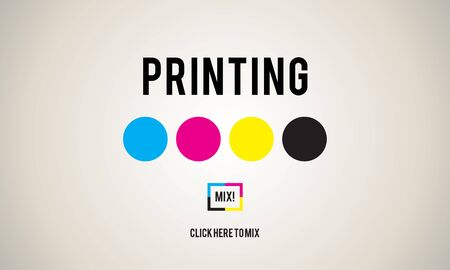 offset printing: Printing Process Offset Ink Color Industry Media Concept