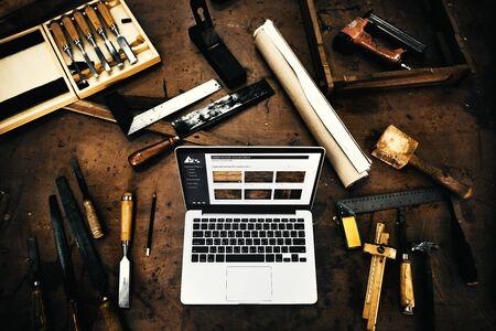 woodwork: Woodwork Timber Workshop Expertise Craftsman Concept Stock Photo