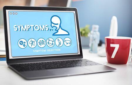 desorden: Trastorno de la alergia síntomas de enfermedad concepto del cuidado médico Foto de archivo