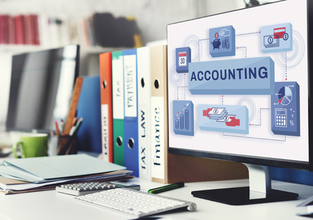 auditing: Accounting Banking Finance Income Profit Concept