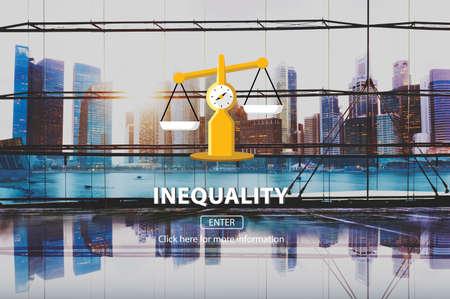 imbalance: Inequality Difference Diversity Imbalance Racism Concept