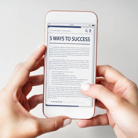 Website Homepage Online Internet artikel Concept Stockfoto