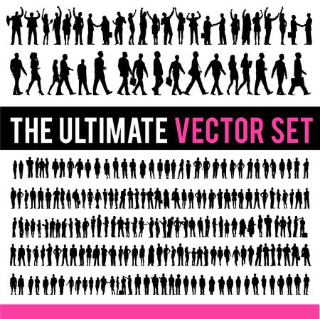 hombres ejecutivos: Vector La gente de negocios Corporativo Concepto de empresa Vectores