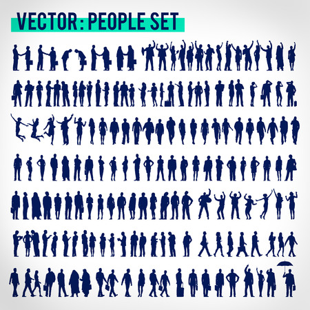 bowing: Vector Business People Corporate Company Concept