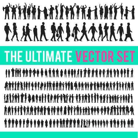 Vector Geschäftsleute Geschäfts Unternehmen Konzept Vektorgrafik
