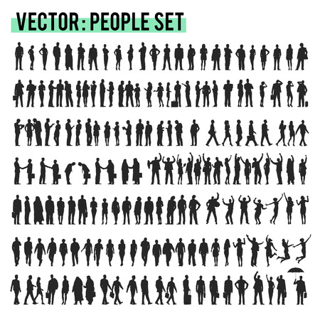 greeting people: Vector Business People Corporate Company Concept