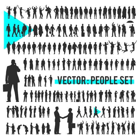 Wektor Biznes Ludzie Corporate Firma Concept Ilustracje wektorowe