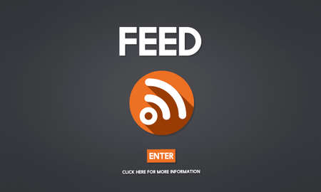 web feed: Feed RSS Internet Network Technology Web Concept Stock Photo