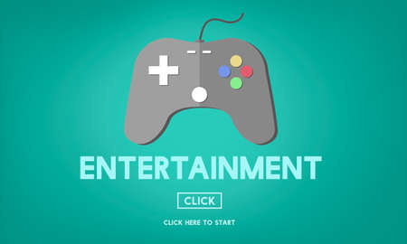 gaming: Gaming Entertainment Fun Hobby Digital Technology Concept Stock Photo