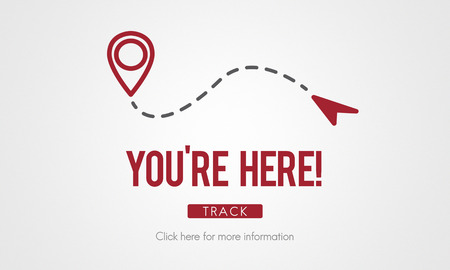 You Are Here Navigate Position Location Planning Concept Stock Photo