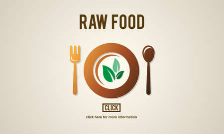 raw: Raw Food Eating Healthy Lifestyle Concept Stock Photo