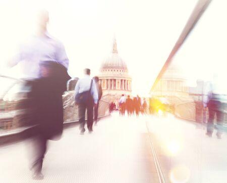 rushing: People rushing in London. Stock Photo