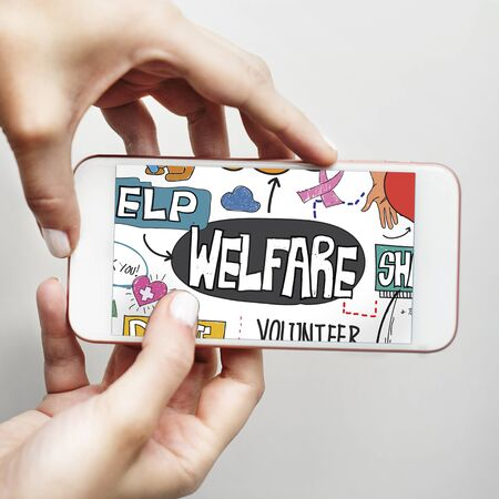 Welfare Help Giving Hands Aid Concept Stock Photo