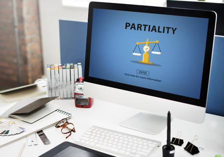 Partiality Prejudice Unfairness Help Victims Bias Concept 版權商用圖片 - 57721638