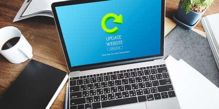 update: Update Website Webpage Networking Concept