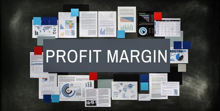 margen: Concepto de cálculo de margen de beneficios de Ingresos