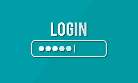 log on: Log In Interface Password Security Concept Stock Photo