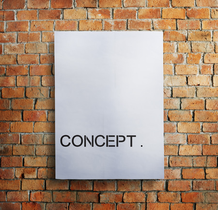 Concept written on a paper on a wall